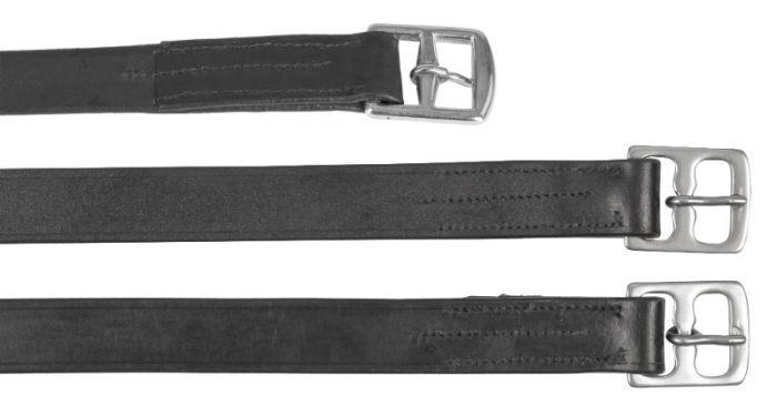 Hofman Stijgbeugelriem leder 25mm x 130cm zwart