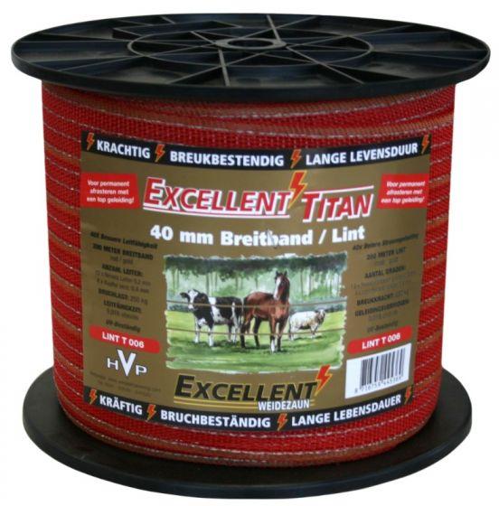 Hofman Lint Excellent Titaan 200 m / 40 mm Rood/Goud