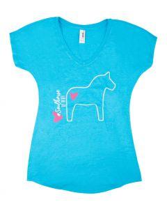 PFIFF t-shirt met V-hals ´paard´