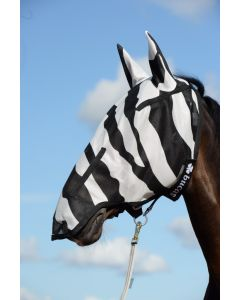 Bucas Buzz-Off Zebra Full Face vliegenmasker