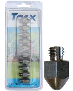 Harry's Horse Tacx RVS kalkoenen 3/8 17mm (10 st.) met punt aantal