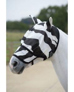 Bucas Buzz-Off Zebra Vliegenmasker Met Neus