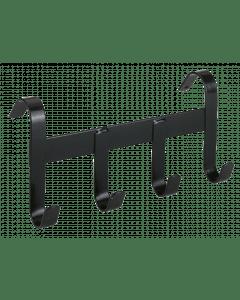 Hofman Halsterhouder metaal met 4 ophanghaken zwart