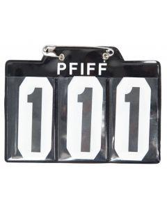 PFIFF Startnummer voor schabrak