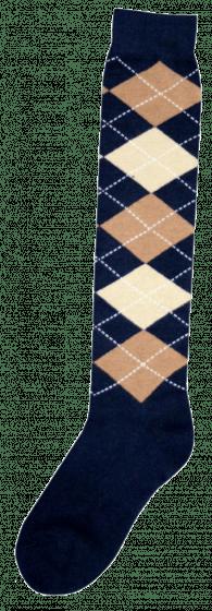 Excellent Kniekous RE d.blauw/l.bruin/beige 43-46